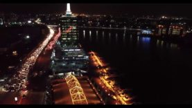 Aerial View of Victoria Island Lagos at Night